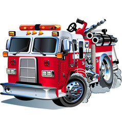 Cartoon Fire Truck vector image vector image