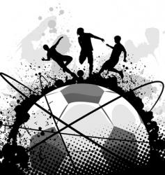 grunge soccer vector image vector image