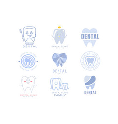 kids dental clinic and dentist cabinet set of vector image vector image