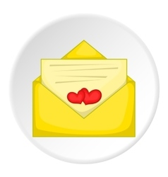 Love letter icon cartoon style vector image