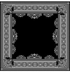 ornate title frame vector image