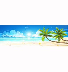 summer holidays on tropical beach vector image vector image