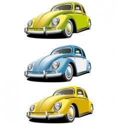 vintage car set vector image