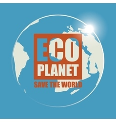 Banner Eco planet vector image vector image