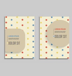 brochures vintage style vector image
