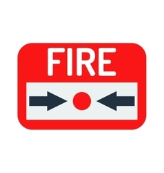 Fire button icon vector image