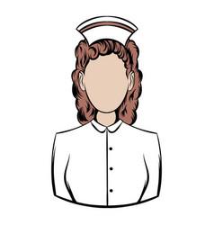 nurse icon cartoon vector image