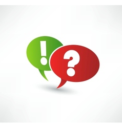 Question Mark And Exclamation Point vector image