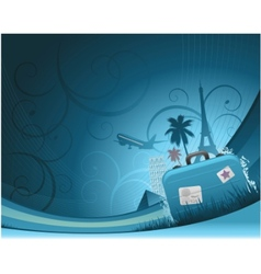 travel background concept vector image