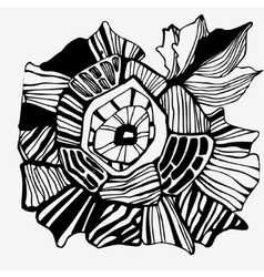 Graphic flower hand-drawing vector