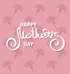 happy mothers day greeting card with pink vector image vector image