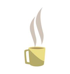 hot coffee cup beverage break office vector image