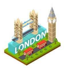 london city famous landmark of capital england vector image