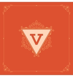 Royal Logo Design Template Decoration vector image vector image