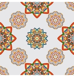 seamless pattern with various Oriental motifs vector image vector image