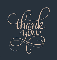 Thank you text calligraphy lettering vector
