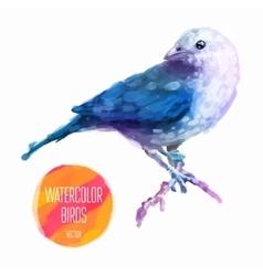 watercolor style of bird vector image vector image