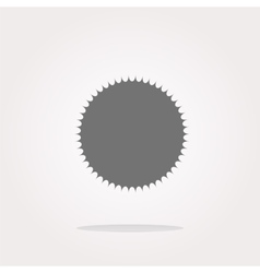 white glossy sphere icon button isolated on vector image