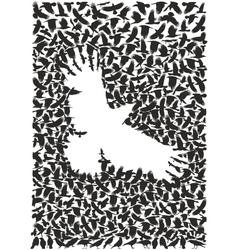 Crow from a flock of crows vector image