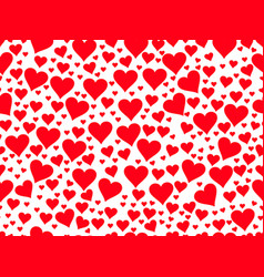 seamless pattern with red hearts on a white vector image vector image