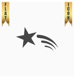Shooting star icon vector image