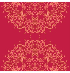 Abstract Mandala style lace doily vector image
