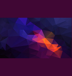 Abstract polygon background blue purple orange vector