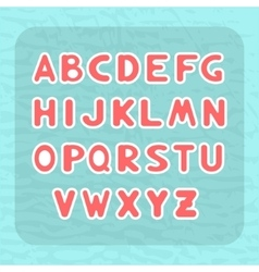 Alphabet with letters in the form of stickers vector image