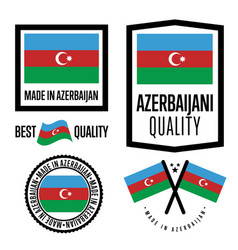 Azerbaijan quality label set for goods vector