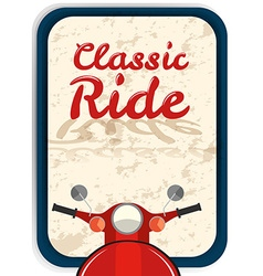 Banner design with classic ride vector