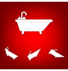 Bathtub Icon set Isometric effect vector image