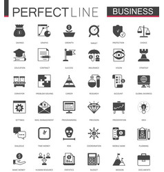 Black classic business and finance web icons set vector