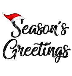 black seasons greetings typography vector image