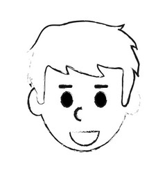 Blurred silhouette cartoon front view man with vector