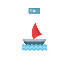 boat icon ship logo vector image