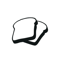 Bread simple black icon on white background vector image