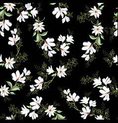 bright magnolia seamless pattern vector image