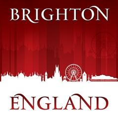 Brighton England city skyline silhouette vector image