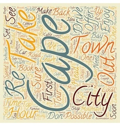 Cape Town In 48 Hours text background wordcloud vector
