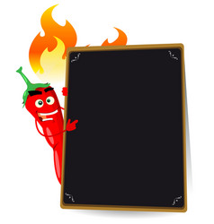 Cartoon hot spice menu vector