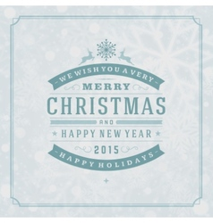 Christmas retro typography and light vector