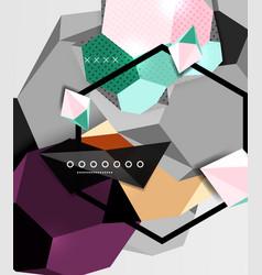 Color 3d geometric composition poster vector