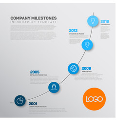 company infographic timeline report template vector image