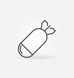 Concrete bomb concept icon in thin line vector