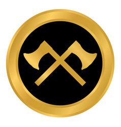 crossed axes button vector image