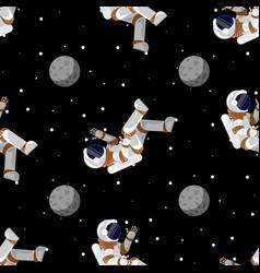 cute funny cosmonaut astronaut spaceman vector image