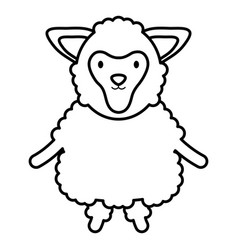 cute sheep childish character vector image