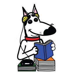 Dogs takes a language course vector