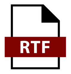 File name extension rtf type vector