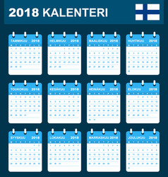 Finnish calendar for 2018 scheduler agenda or vector